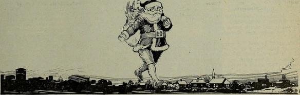 Santa and his sackful of toys.
