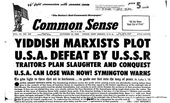 Common Sense headline reading: