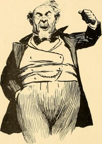 A fat rich guy in evening dress.