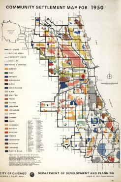 Map of Chicago ethnic neighborhoods in 1950