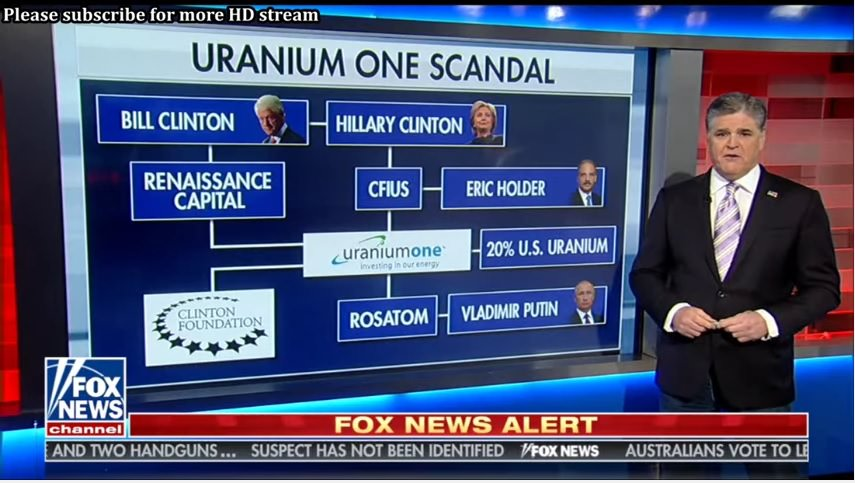 Sean Hannity explaining his Crazy Wall of the Uranium One