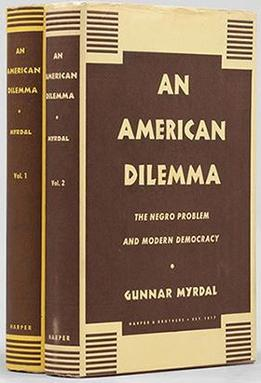 Cover of Gunnar Myrdal's book An American Dilemma