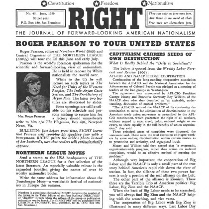 Front page of RIGHT newspaper declaring