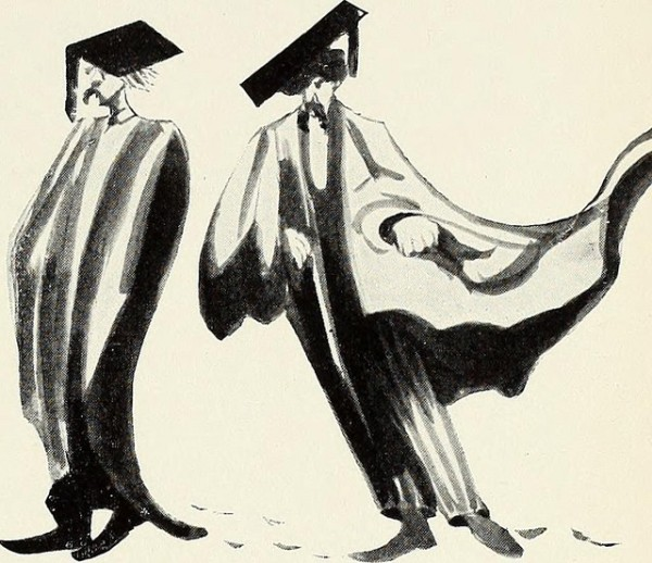 Professors in academic regalia