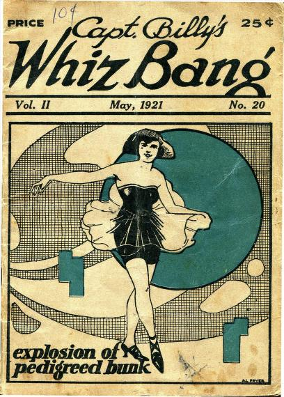 Cover of Capt. Billy's Whiz Bang Magazine advertising