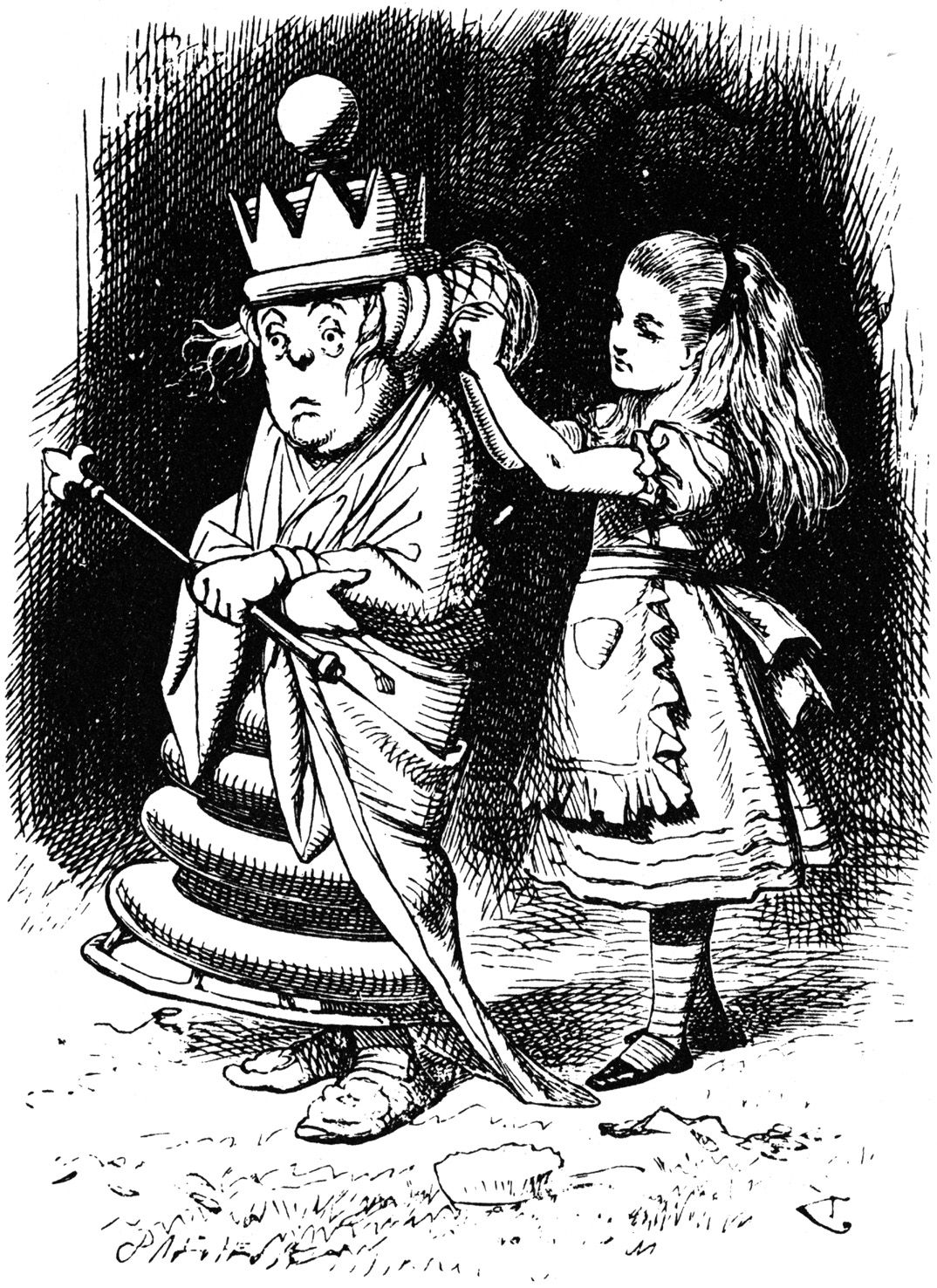 The White Queen and Alice from Alice Through the Looking Glass